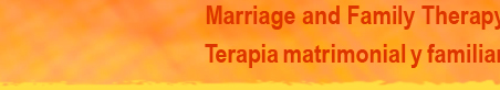 Marriage and Family Therapy, Terapia matrimonial y familiar
